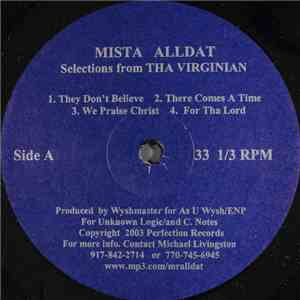 Mista Alldat - Selections From Tha Virginian mp3 flac