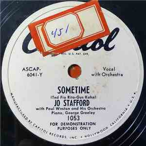 Jo Stafford With Paul Weston And His Orchestra - Sometime / No Other Love mp3 flac